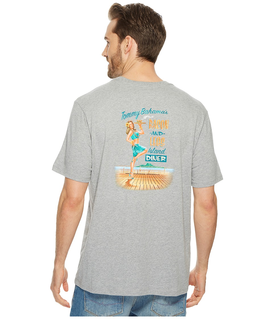 Tommy Bahama Bacon and Legs T-Shirt (Grey Heather) Men