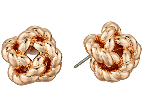 Tory Burch Rope Knot Stud Earrings - Rose Gold