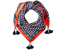 Tory Burch Stallion Silk Square Scarf