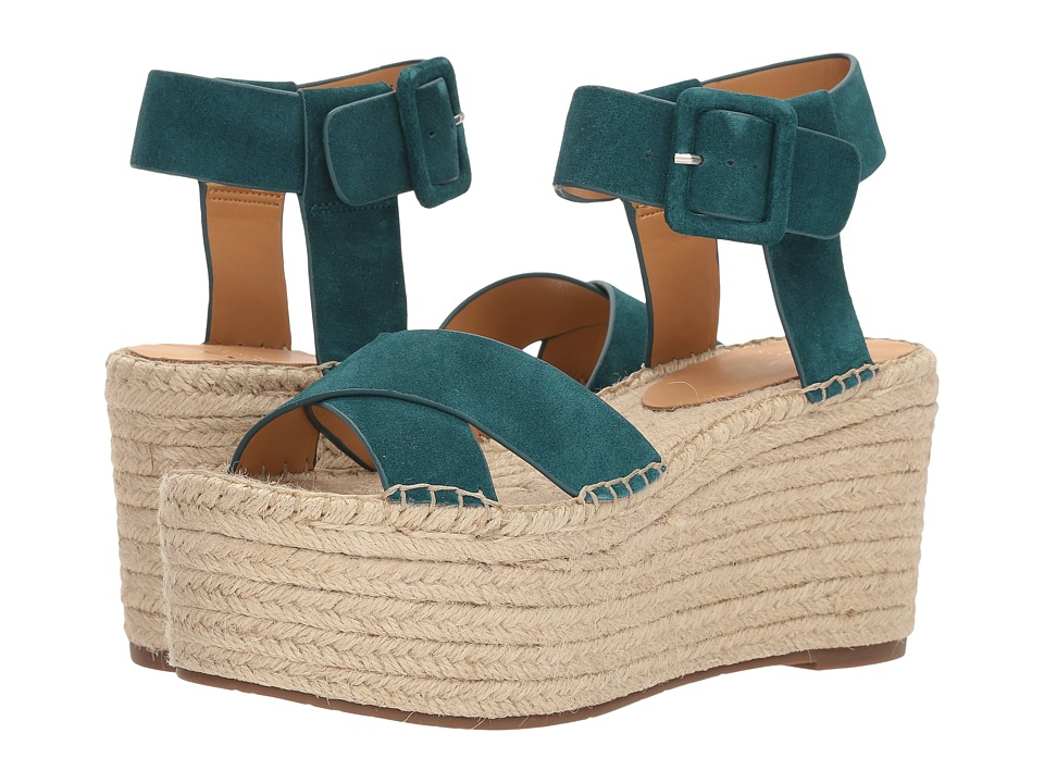 Marc Fisher LTD Randall Espadrille Platform (Petrol Softy Extra) Women