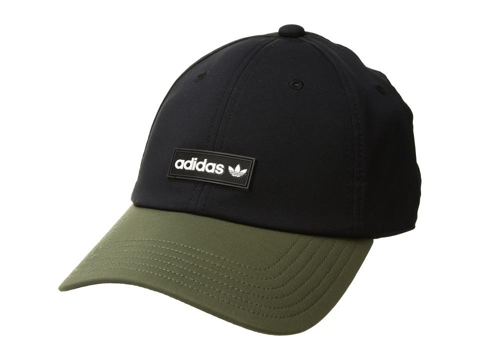 adidas Originals - Originals Decon II Curved Brimmer (Black/Olive/White) Caps