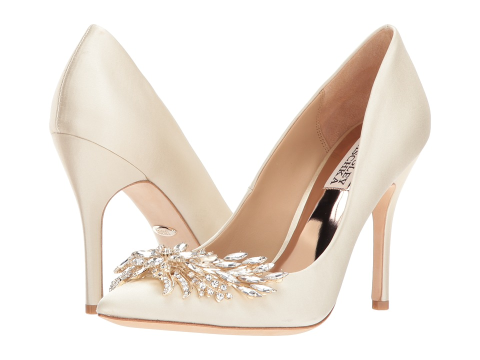 Badgley Mischka Marcela (Ivory Satin) High Heels