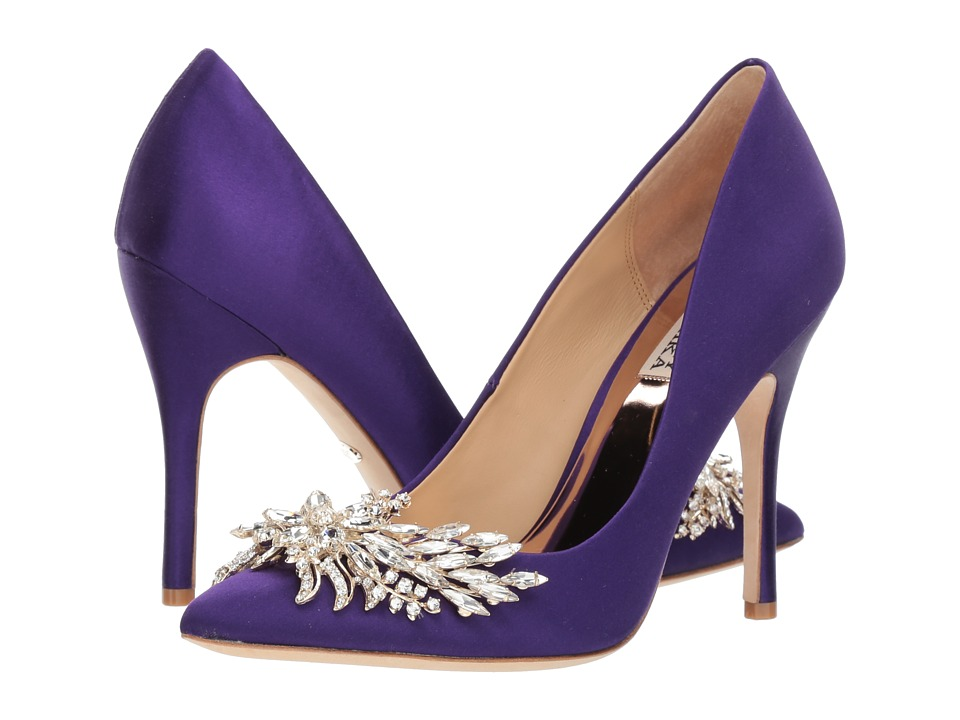 Badgley Mischka Marcela (African Violet Satin) High Heels