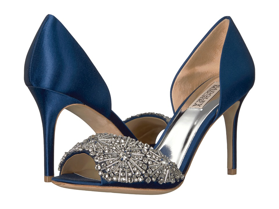 Badgley Mischka Maria (Navy Satin) High Heels
