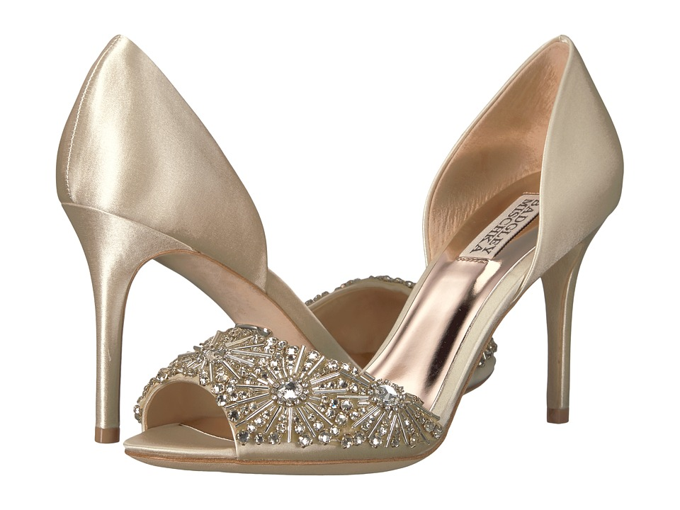 Badgley Mischka Maria (Ivory Satin) High Heels