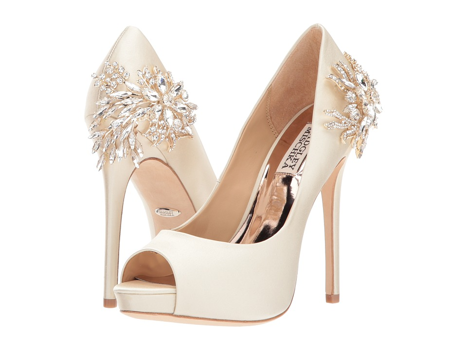 Badgley Mischka Marcia (Ivory Satin) High Heels