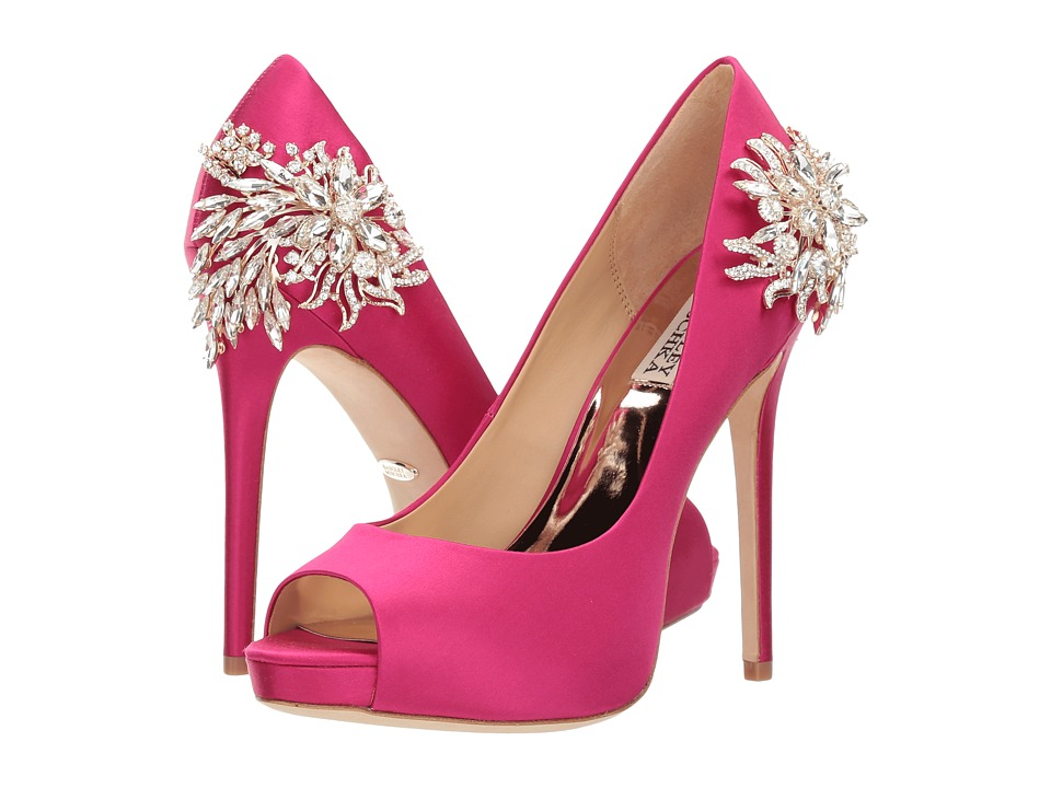 Badgley Mischka Marcia (Hot Pink Satin) High Heels