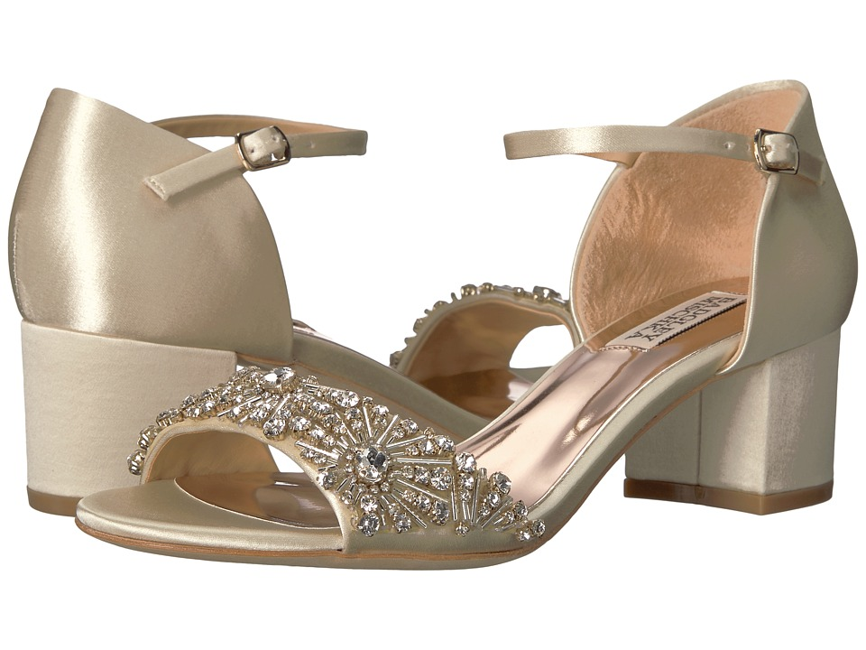 Badgley Mischka Mareva (Ivory Satin) High Heels