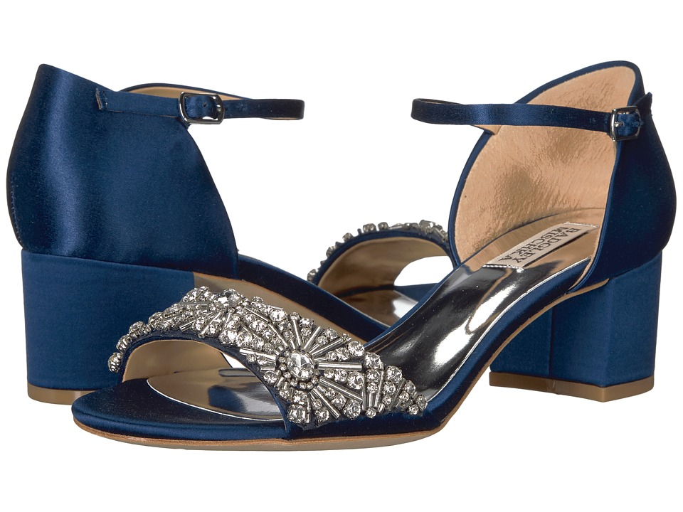 Badgley Mischka Mareva (Navy Satin) High Heels
