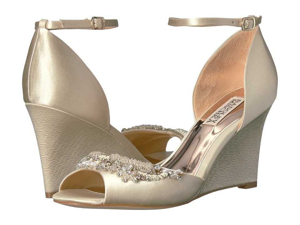 Badgley Mischka Malorie (Ivory Satin) Women