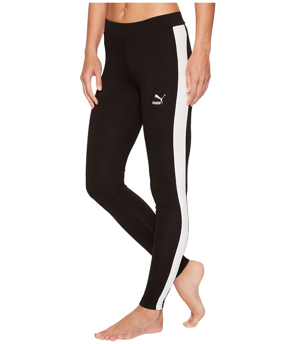 PUMA Classics Logo T7 Leggings (Cotton Black) Women