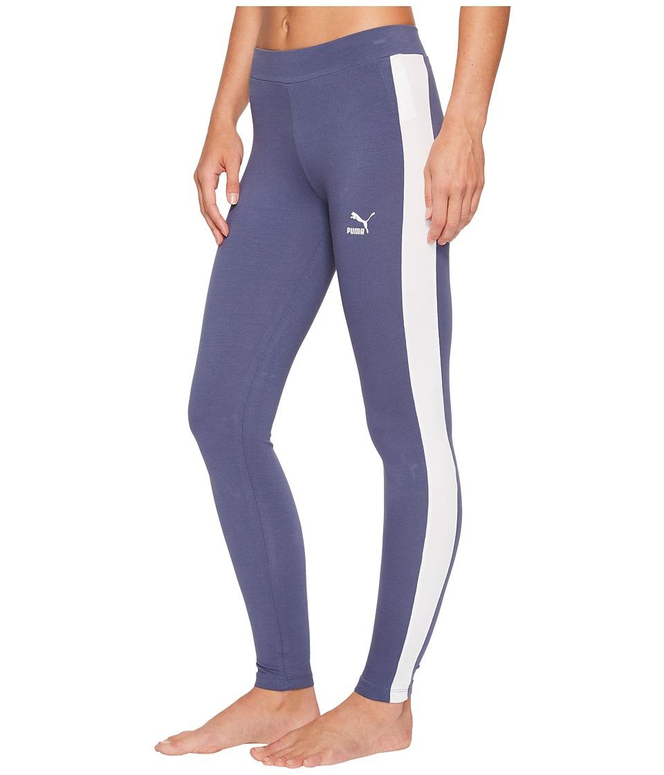 PUMA Classics Logo T7 Leggings (Blue Indigo) Women