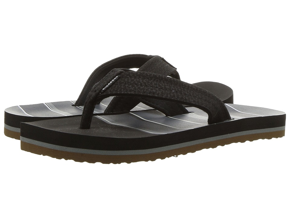 Billabong - Stoked Sandal (Toddler/Little Kid) (Black/Grey) Men's Sandals