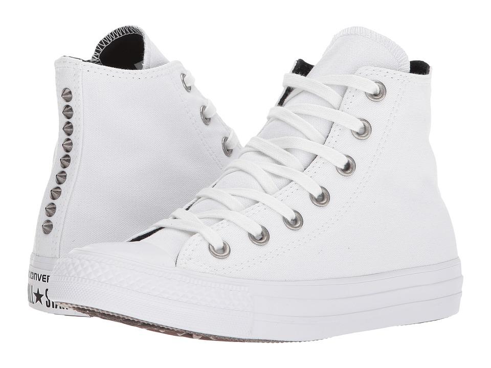 Converse Chuck Taylor(r) All Star Canvas Studs Hi (White/...