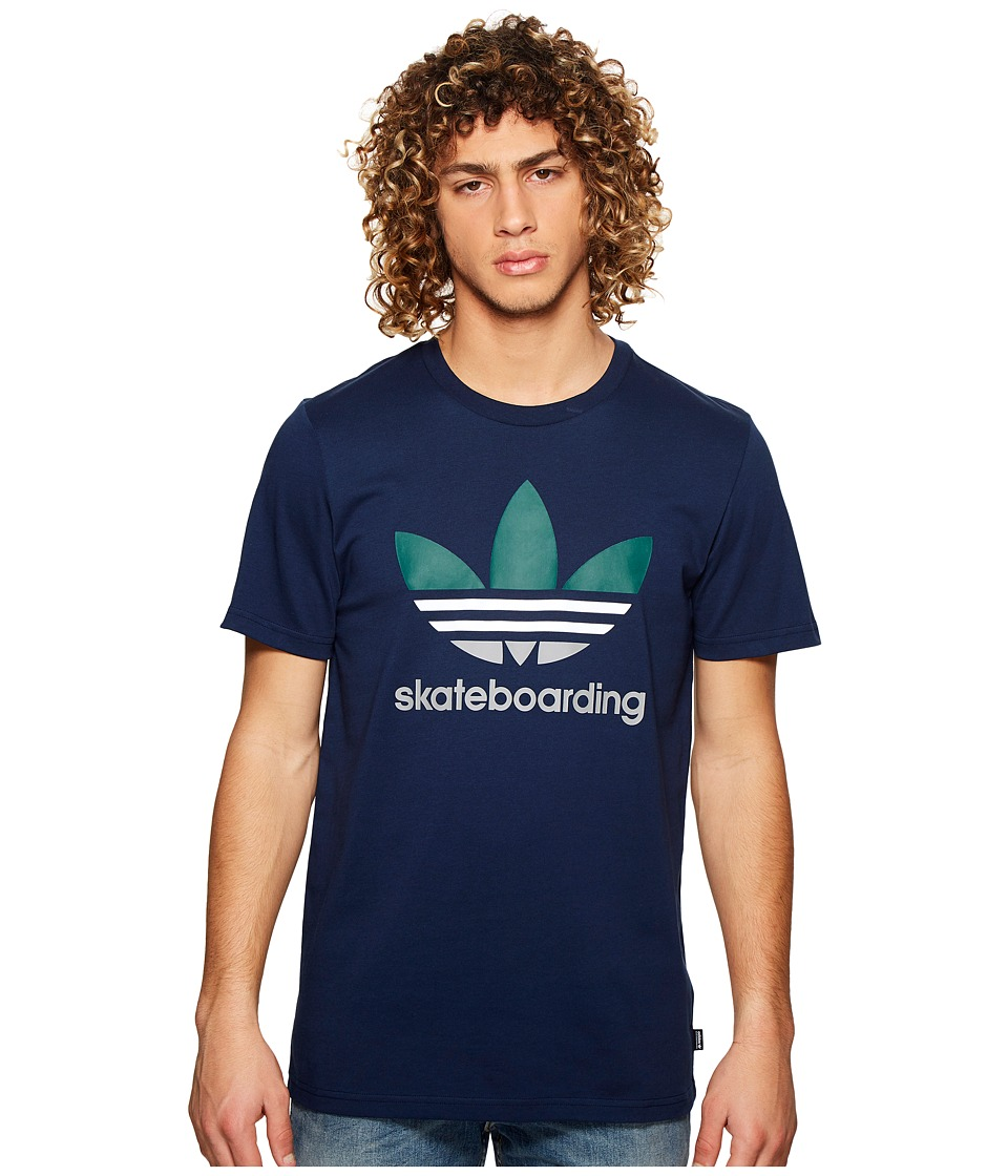 adidas Skateboarding - Clima 3.0 Tee (Night Indigo/White/Collegiate Green/Charcoal Solid Grey) Mens T Shirt