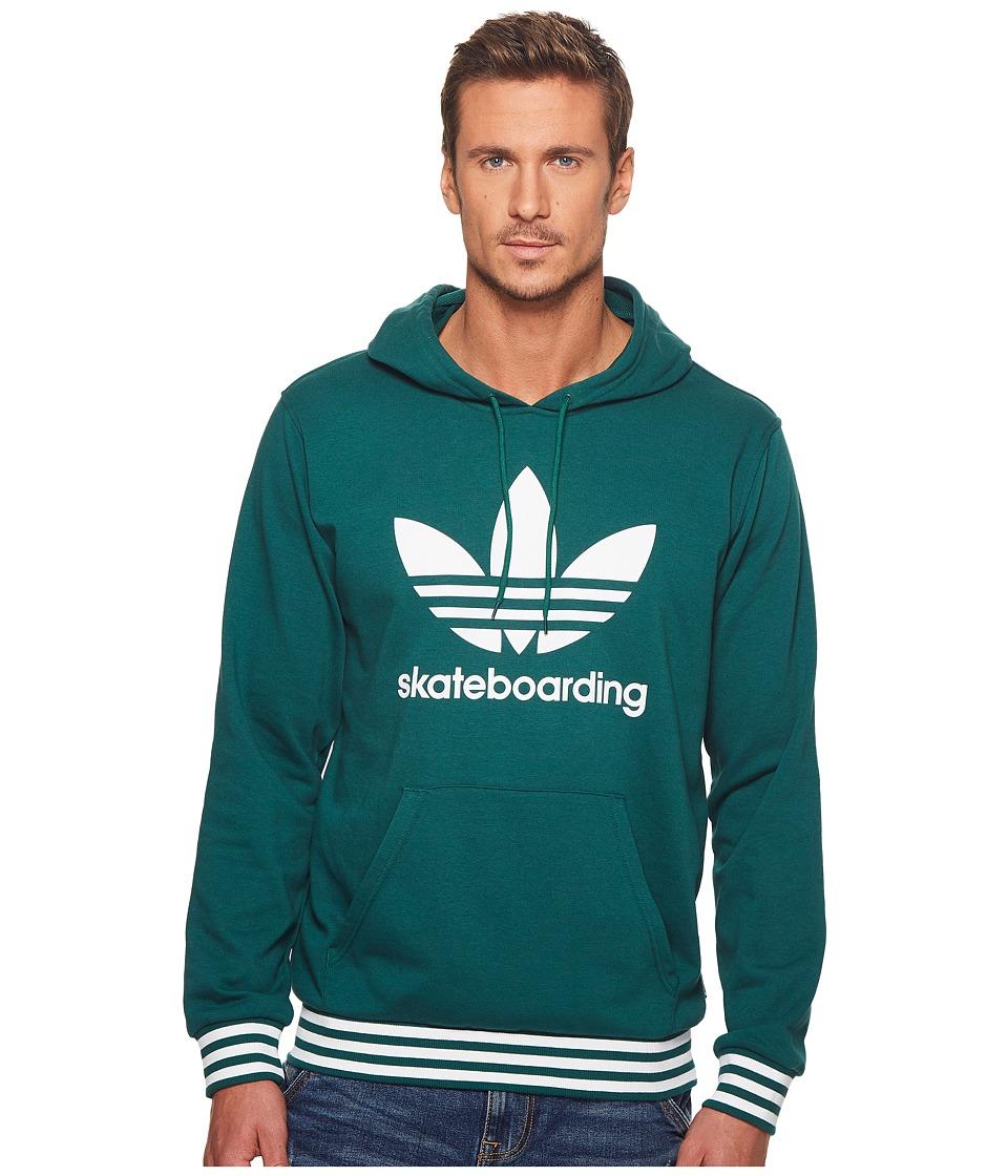 adidas Skateboarding - Clima 3.0 Uniform Hoodie (Collegiate Green/White) Mens Sweatshirt
