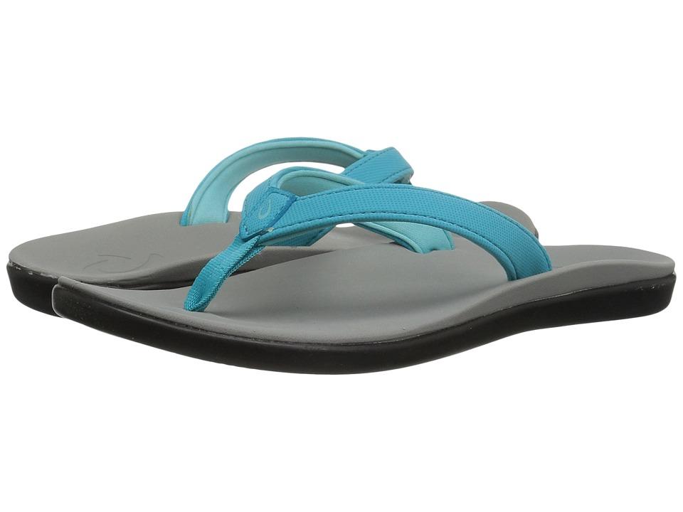 OluKai Kids Ho'opio (Toddler/Little Kid/Big Kid) (Blue Crush/Pale Grey) Girls Shoes