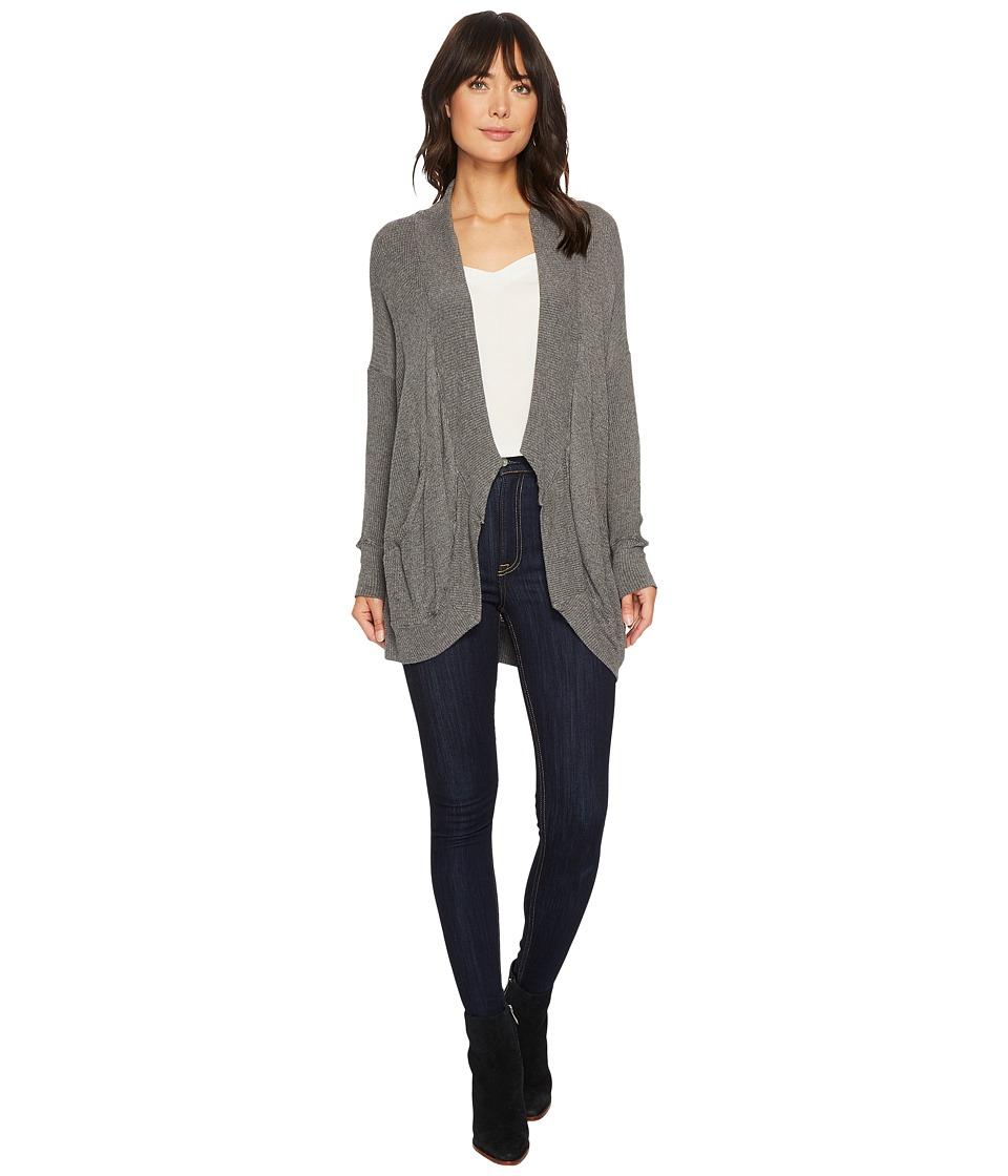 Allen Allen - Thermal Sweater Long Sleeve Cardigan