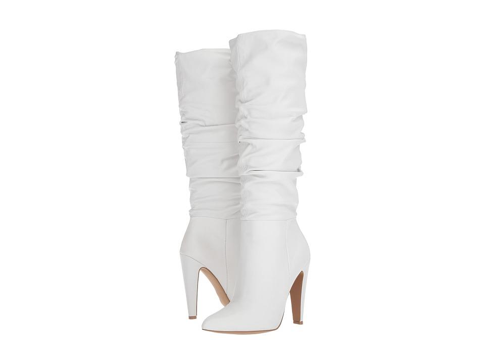 Steve Madden Carrie (White Leather) Women