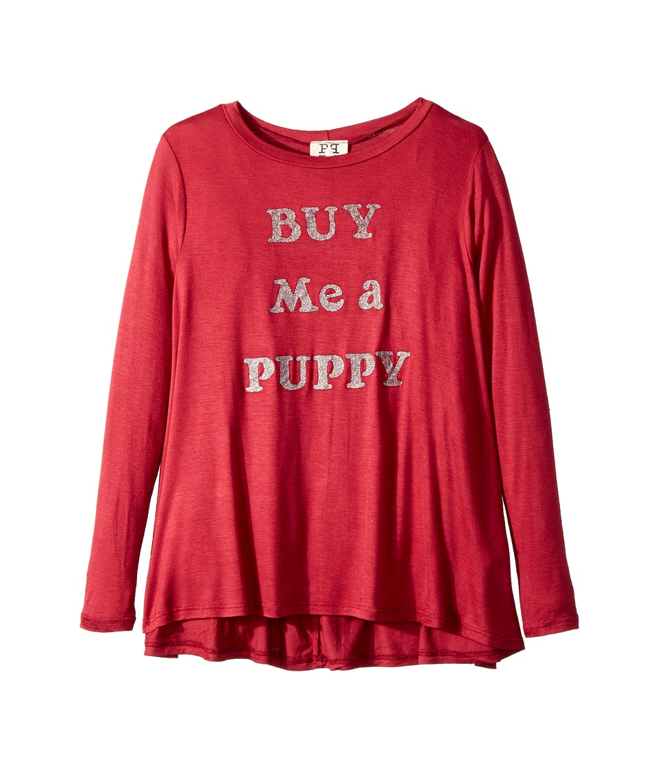 People's Project LA Kids - Buy Me Pup Knit Long Sleeve Tee
