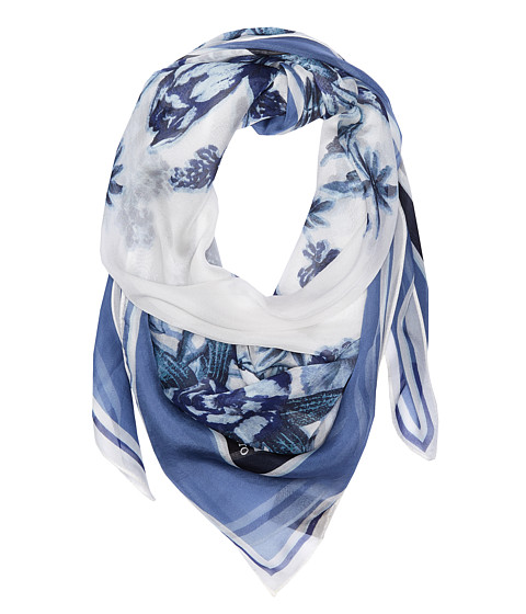 Vince Camuto Romantic Floral Square Scarf - Blue