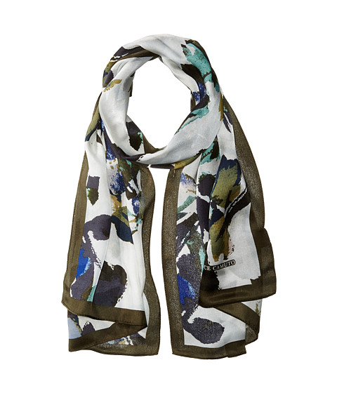 Vince Camuto Fancy Floral Oblong Scarf - Blue