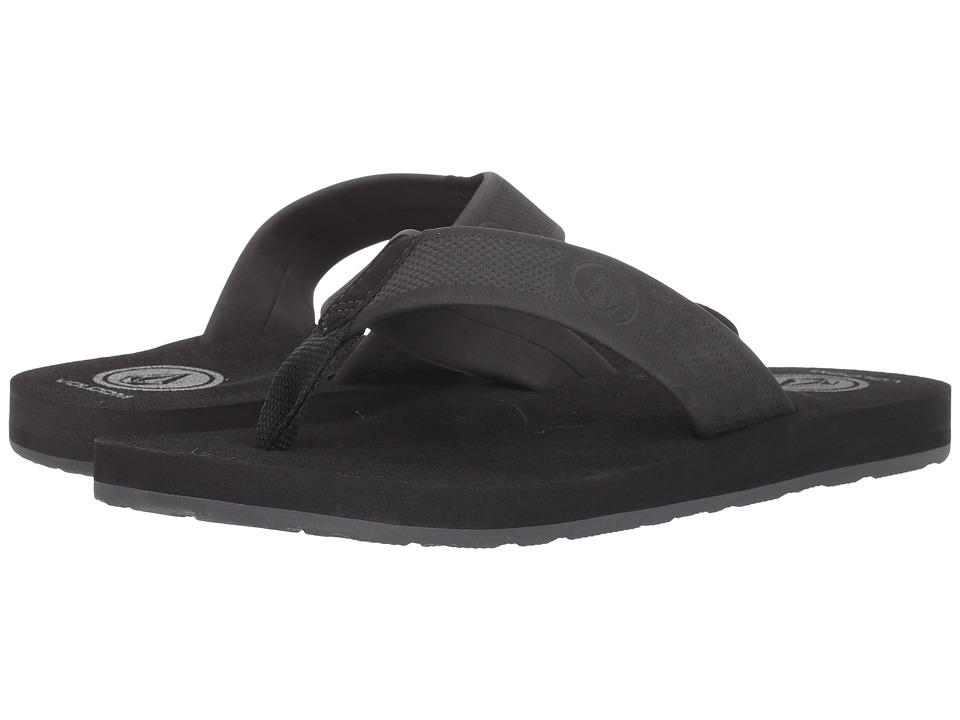 Volcom Daycation (Black Destructo) Men's Sandals