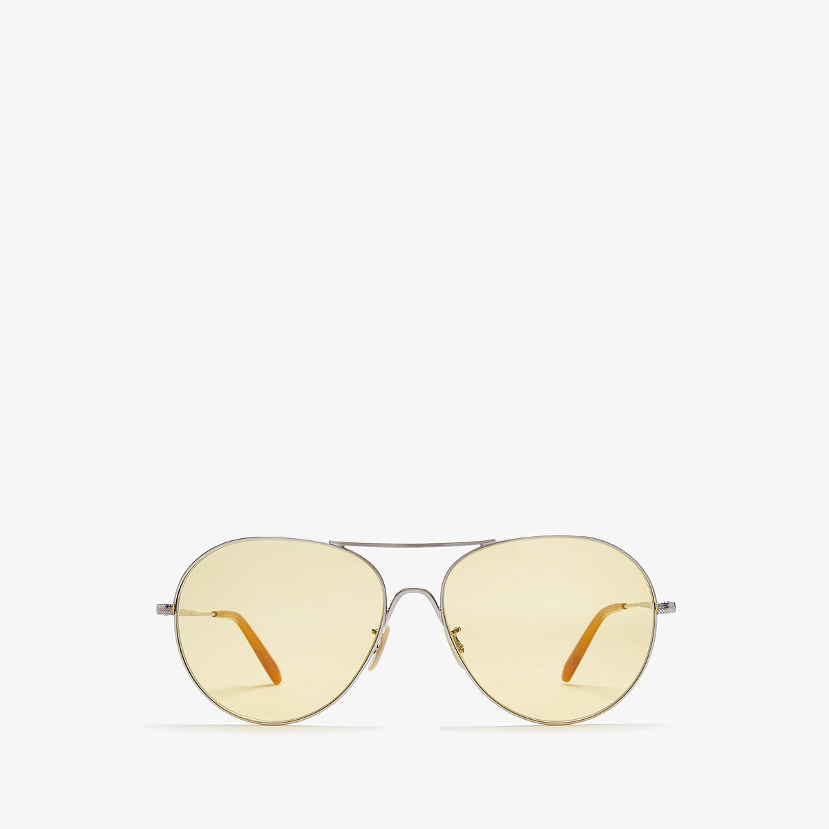 Oliver Peoples Rockmore - Brushed Silver/ Yellow Wash