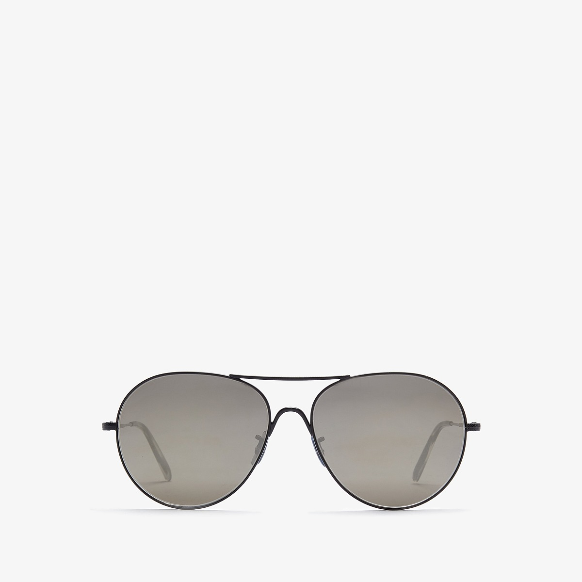 Oliver Peoples - Rockmore (Matte Black/Grey Gold Tone) Fashion Sunglasses