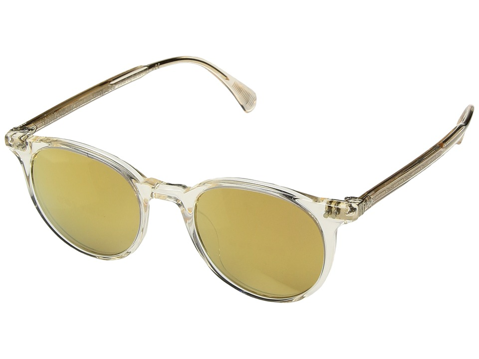 Oliver Peoples Delray Sun (Buff/Amber Gold Tone) Fashion ...