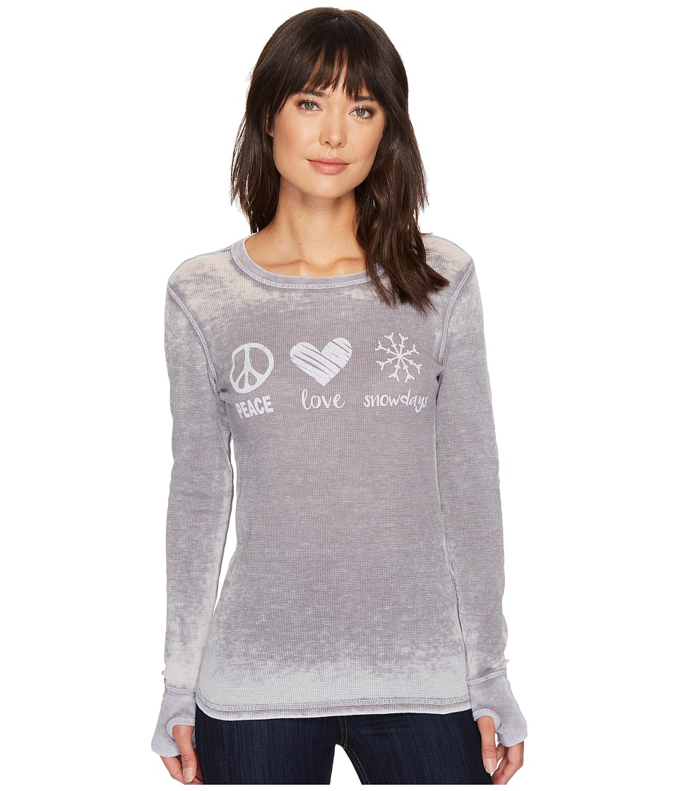 Allen Allen - Peace Love Snowdays Thermal Top