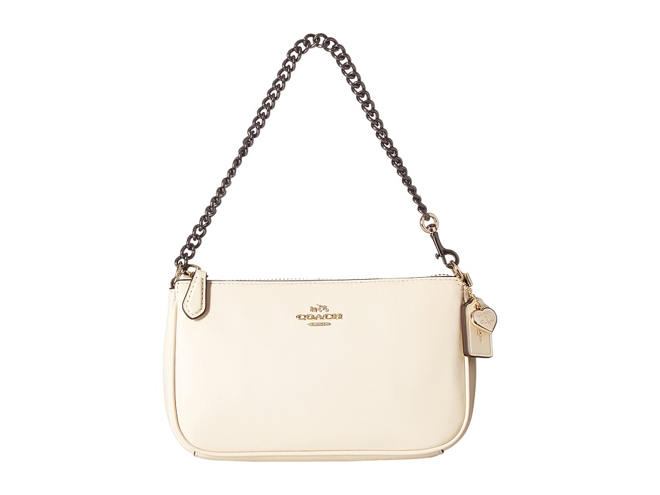 COACH - Selena Grace Nolita Wristlet 19 (Li/Selena White) Wristlet Handbags