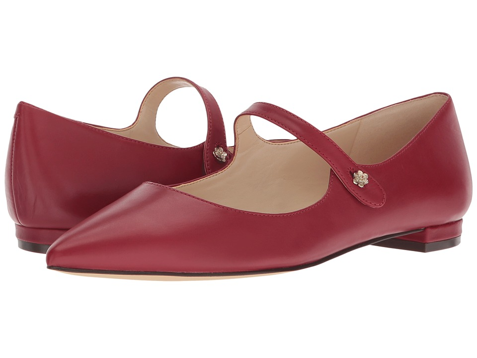 Nine West Ashby Mary Jane Flat (Ruby Red Dress Calf) Women