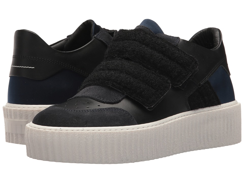 MM6 Maison Margiela - Hook and Loop Low Top (Navy/Black/Dark Grey/Black) Womens Shoes