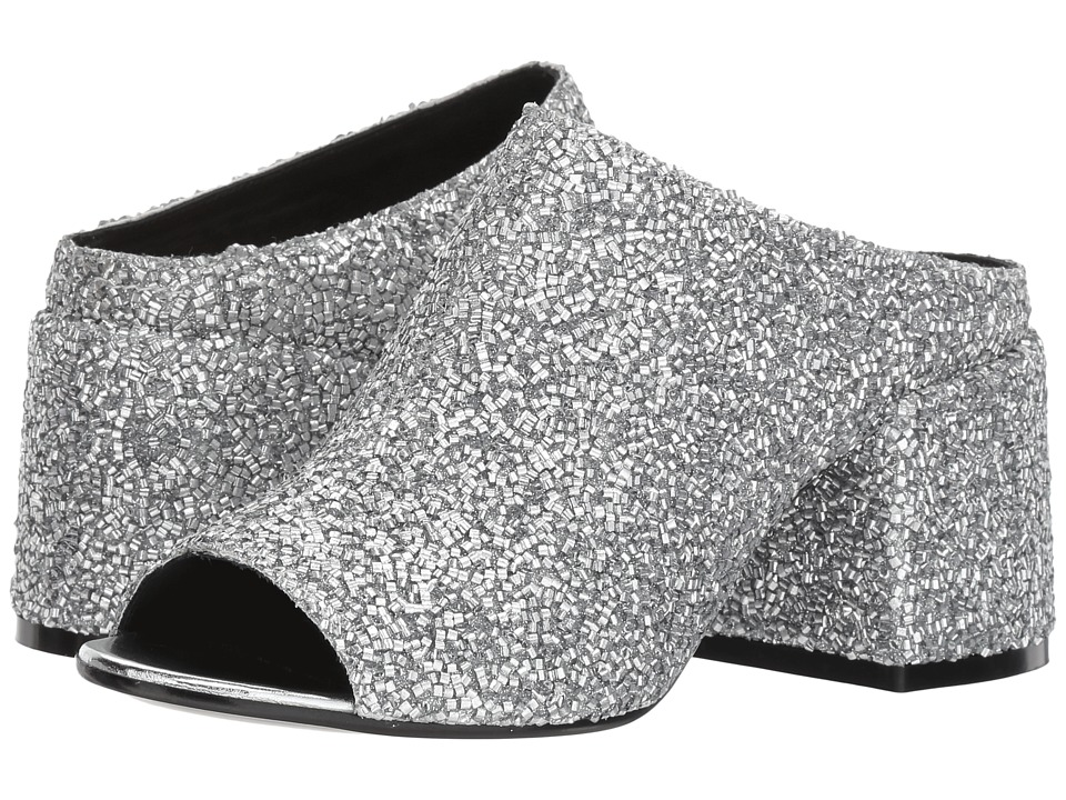 MM6 Maison Margiela - Chunky Heel Slide (Silver/Silver) Womens Shoes