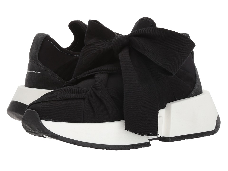 MM6 Maison Margiela - Grosgrain Tie Trainer (Black/Dark Grey/Black) Womens Shoes