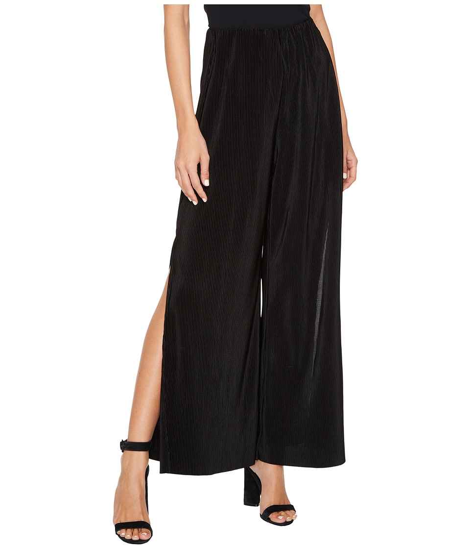 Jack by BB Dakota - Bitsy Crinkled Wide-Leg Pants (Black) Womens Casual Pants