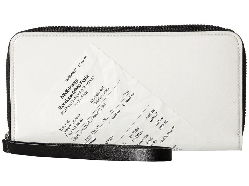 MM6 Maison Margiela - Receipt Wallet (Transparent/White/B...