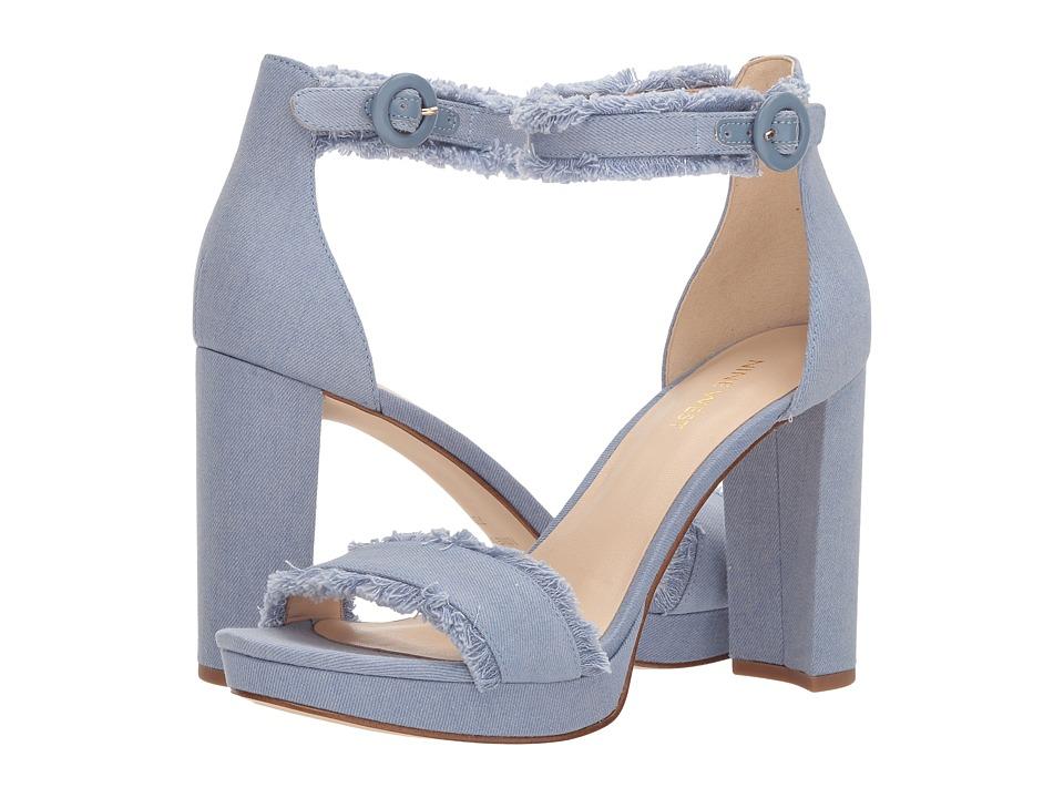 Nine West Daranita Platform Heel Sandal (Chambray Soft Denim) High Heels