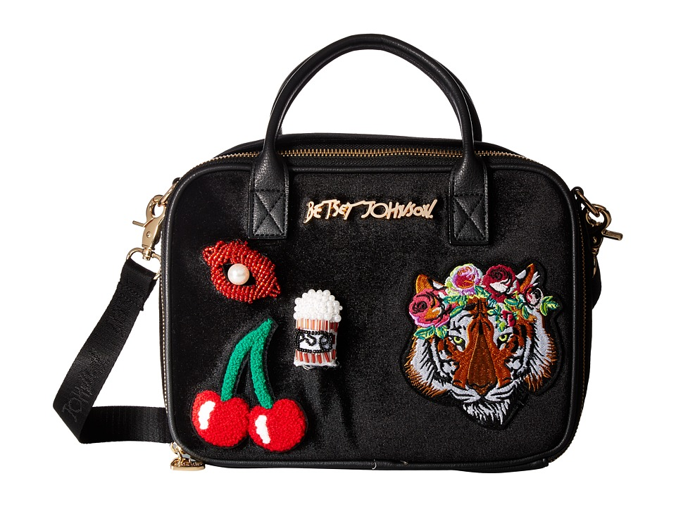 Betsey Johnson - Velvet with Appliques Lunch Tote