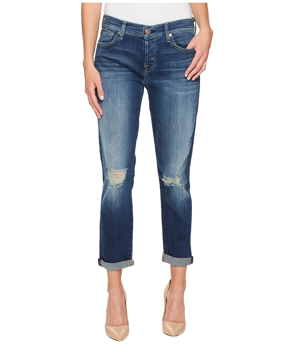 7 For All Mankind - Josefina w/ Knee Holes - Squiggle in Liberty 4