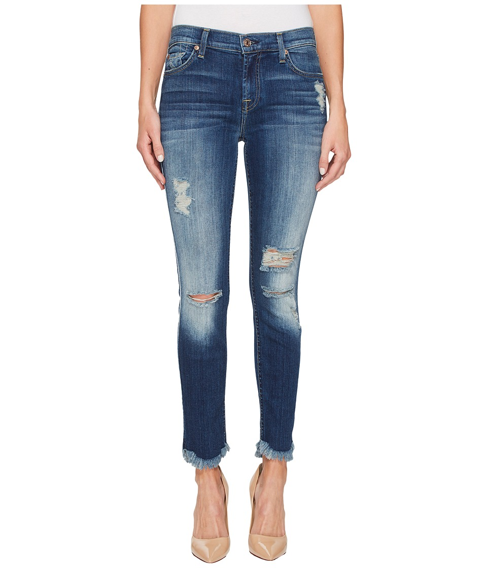 7 For All Mankind - Ankle Skinny w/ Destroy Scallop Hem in Liberty 3