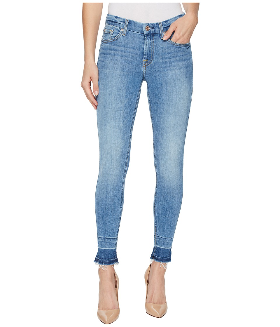 7 FOR ALL MANKIND The Ankle Skinny w/ Trousers Shadow Hem...