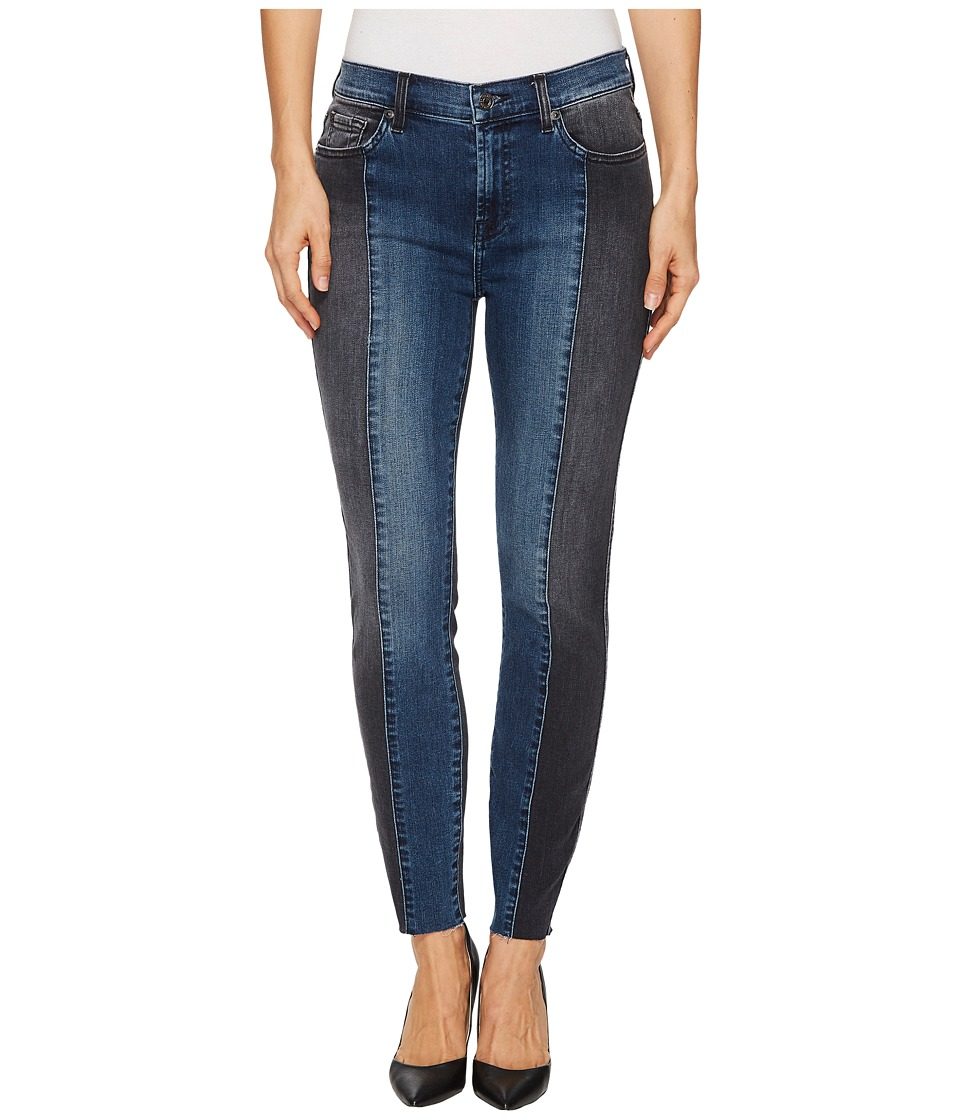 7 For All Mankind 7 For All Mankind - Ankle Skinny w/ Piecing Cut Off Hem in Indigo Sulphur