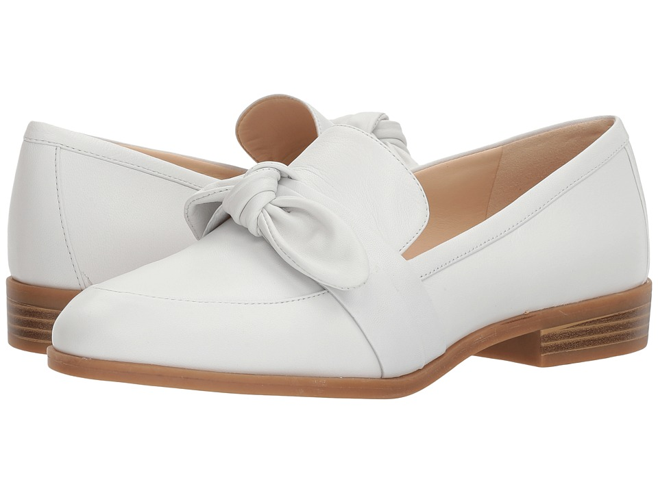 Nine West - Janilly Loafer (White Zeus) Womens Slip on  Shoes