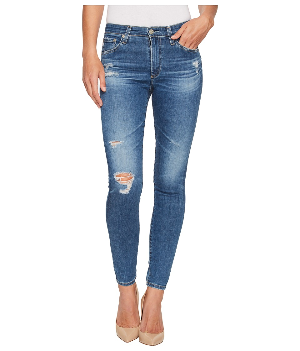 AG Adriano Goldschmied - Farrah Skinny Ankle in 14 Years Blue Nile Destructed (14 Years Blue Nile Destructed) Womens Jeans