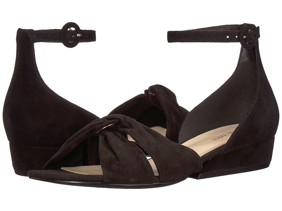 Nine West - Lumsi Sandal (Black Isa Kid Suede) Womens Sandals