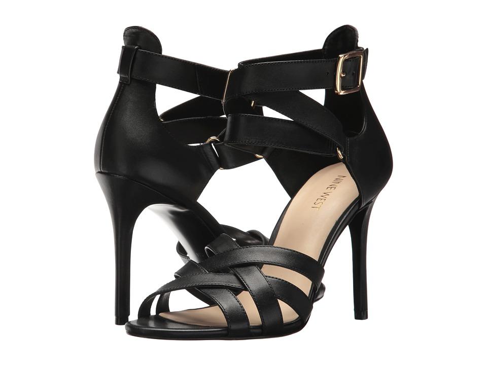 Nine West - Mcglynn Heel Sandal (Black Dress Calf) High Heels