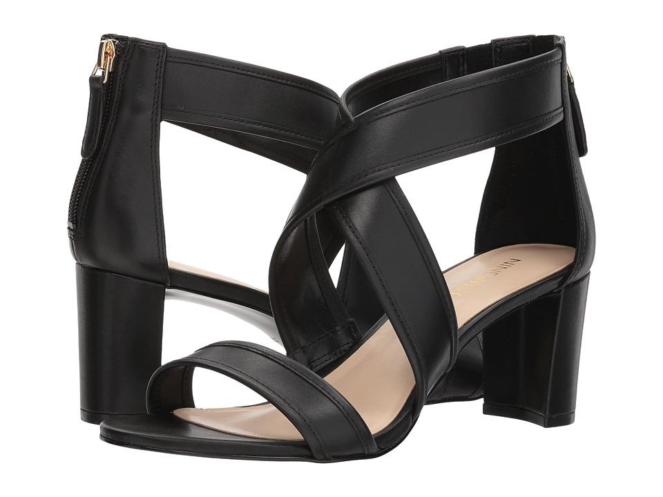 Nine West - Pearlita Block Heel Sandal (Black Soft Calf) High Heels