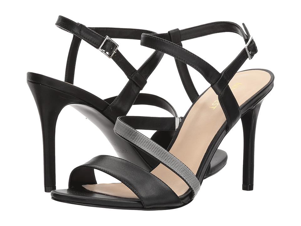 Nine West - Mysid Strappy Heel Sandal (Black Soft Calf) High Heels
